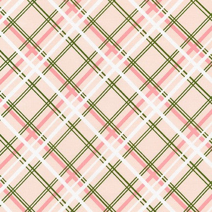 AVL-19251-376 SHELL Buffalo Flats Plaid in Shell by Violet Craft for Robert Kaufman Fabrics at Pink Castle Fabrics