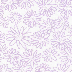 Blueberry Park 2 Scruffy Daisy in Orchid from Blueberry Park 2 by Karen Lewis for Robert Kaufman
