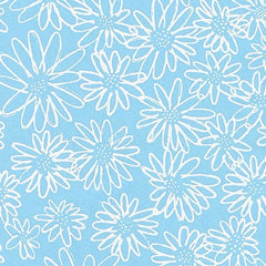 Blueberry Park 2 Scruffy Daisy in Lake from Blueberry Park 2 by Karen Lewis for Robert Kaufman