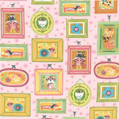 Whimsical Storybook Picture Frames in Garden Fabric from Whimsical Storybook by Tara Lilly for Robert Kaufman