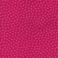 Rhoda Ruth Four Leaf Clovers in Cerise from Rhoda Ruth by Elizabeth Hartman for Robert Kaufman