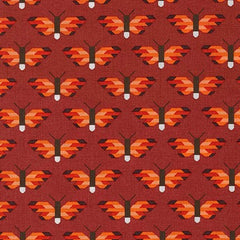 Pacific Butterflies in Flame from Paintbox Basics by Elizabeth Hartman for Robert Kaufman
