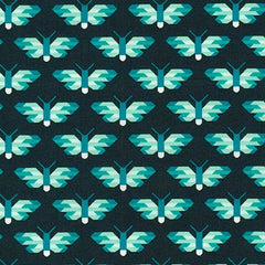 Pacific Butterflies in Ultra Marine from Paintbox Basics by Elizabeth Hartman for Robert Kaufman
