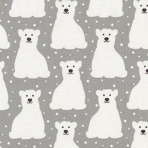 Arctic Polar Bears in Grey