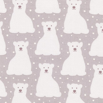 Arctic Polar Bears in Plum