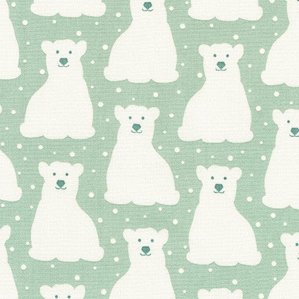 Arctic Polar Bears in Desert Green