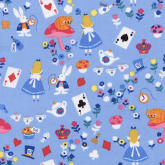Alice Timeless Toss in Blue by Timeless Treasures House Designers  for Timeless Treasures