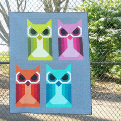 Allie Owl – Paper Quilt Pattern from Japanese Quilt Artist Series by Elizabeth Hartman for World Book Media