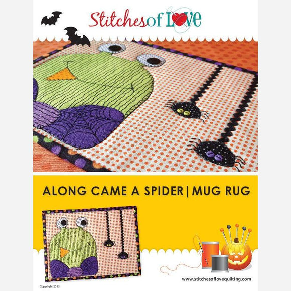 Along Came A Spider Mug Rug - PDF Quilt Pattern
