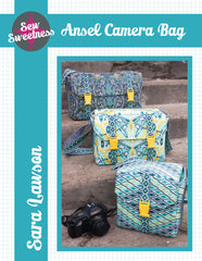 Ansel Camera Bag - Printed Accessory Pattern from Liesl and Co by Sew Sweetness for World Book Media