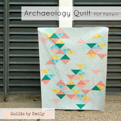 Archaeology - PDF Quilt Pattern from Straight Stitch Society by Quilts By Emily