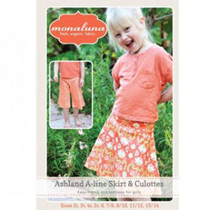 Girl's Ashland A-line Skirt & Culottes - Printed Apparel Pattern by Monaluna Designs