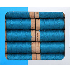 Aurifil Aurifloss 18 Yard Spool – Medium Turquoise from Aurifloss