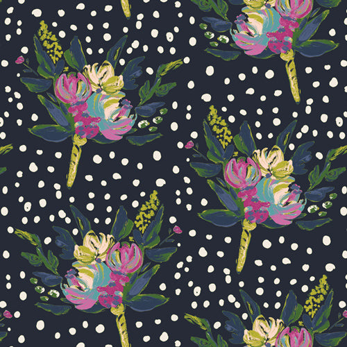 BLB-44720 Bloomsbury West End Panel in Blooms by Bari J for Art Gallery Fabrics from Pink Castle Fabrics
