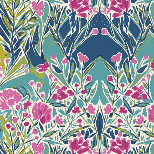 BLB-44724 Bloomsbury Ms. Woolf in Calmwater by Bari J for Art Gallery Fabrics from Pink Castle Fabrics
