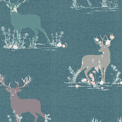 Blithe Dear Deer in Teal from Blithe by Katarina Roccella for Art Gallery
