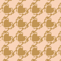 Blithe Deer Houndstooth in Tan from Blithe by Katarina Roccella for Art Gallery