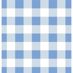 Modern Reflection Gingham Knit in Blue