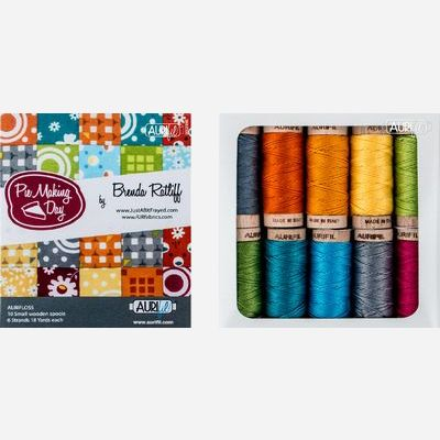 Aurifil Designer Thread Collection - Pie Making Day - 10 Small Aurifloss Spools