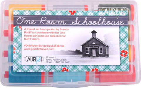 One Room Schoolhouse - Aurifil Designer Thread Collection - 12 Large Spools