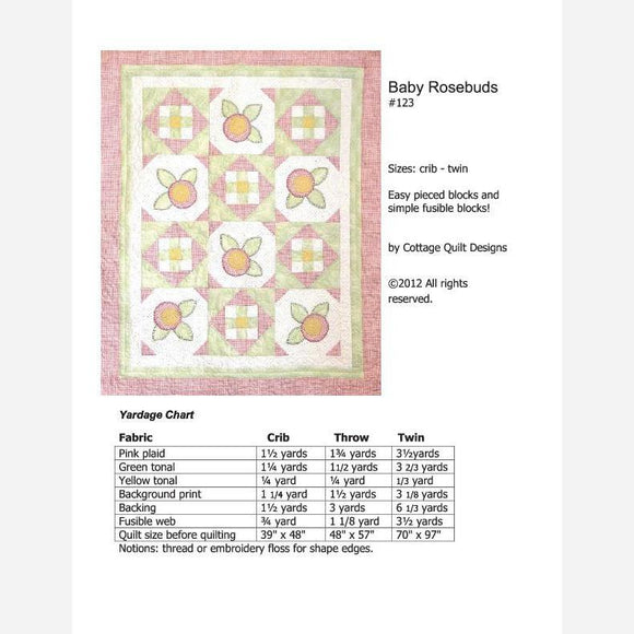 Baby Rosebuds - PDF Quilt Pattern