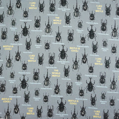 Beetle Friends in Gray from The Tinies by Cosmo Textiles House Designers  for Cosmo Textiles