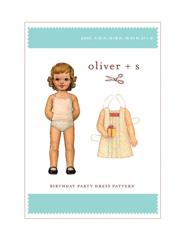 Birthday Party 6m - 3t - PDF Apparel Pattern