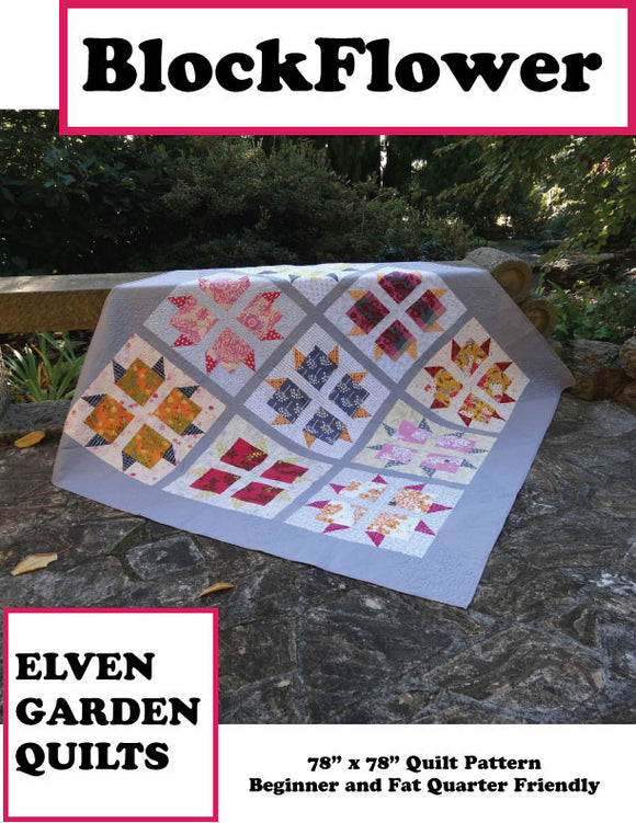 Block Flower - PDF Quilt Pattern