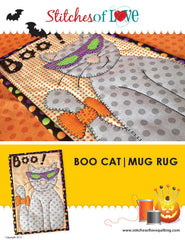 BooCat Mug Rug - PDF Quilt Pattern by Stitches of Love