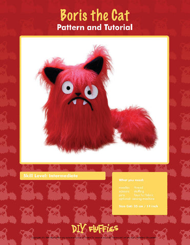 Boris the Cat - PDF Accessory Pattern