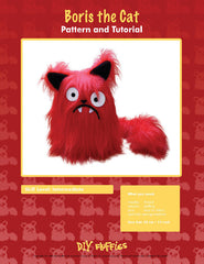 Boris the Cat - PDF Accessory Pattern from Japanese Quilt Artist Series by DIY Fluffies for World Book Media
