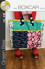 Boxcar Tote – Printed Accessory Pattern from Color Inspirations Club by Green Bee Patterns for Alison Glass Design