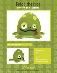 Bubbo the Frog - PDF Accessory Pattern from Japanese Quilt Artist Series by DIY Fluffies for World Book Media