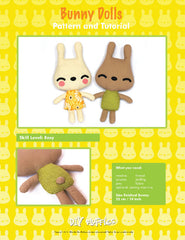 Bunny Dolls - PDF Accessory Pattern from Japanese Quilt Artist Series by DIY Fluffies for World Book Media
