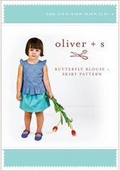 Butterfly Blouse and Skirt 6m - 4 - PDF Apparel Pattern from Liesl and Co by Oliver And S