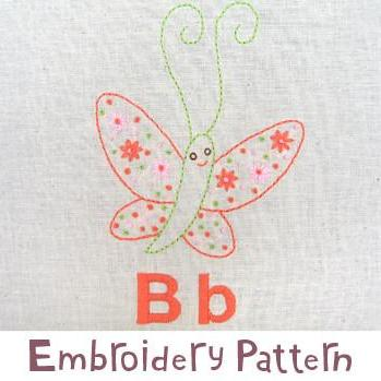 Butterfly Embroidery - PDF Accessory Pattern
