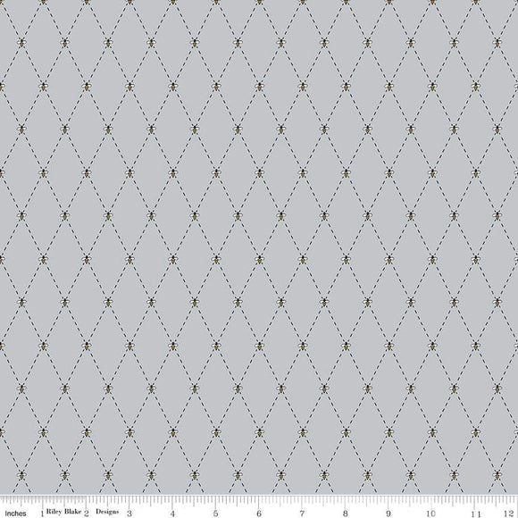 C8385-GRAY Honey Run Check in Gray by Jill Finley for Riley Blake Designs at Pink Castle Fabrics