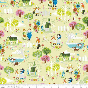 C8531-LTGREEN Kindred Spirits Town in Light Green by Jill Howarth for Riley Blake Designs at Pink Castle Fabrics