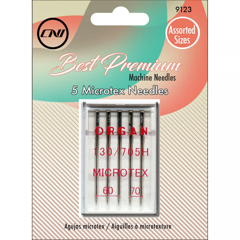 Clover Best Premium Machine Microtex Needles (Size 60/8 & 70/10) - 5 Pack