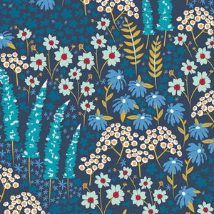 CTR-24902 Catch & Release Blue Bank Flora by Mathew Boudreaux for Art Gallery Fabrics from Pink Castle Fabrics