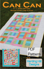 Can Can - PDF Quilt Pattern by Harding Hill Designs