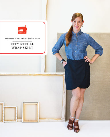 City Stroll Wrap Skirt - PDF Apparel Pattern