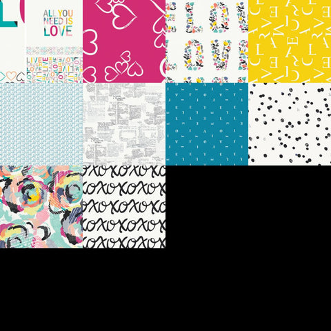 Capsule - Letters Love - Half Yard Bundle