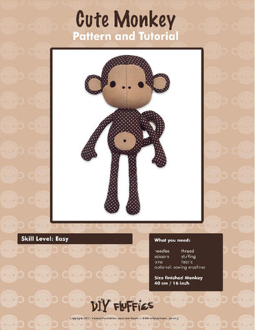 Cute Monkey - PDF Accessory Pattern