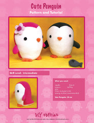 Cute Penguin - PDF Accessory Pattern by DIY Fluffies