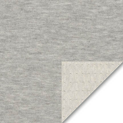 Double Layer Jersey Knit in Gray