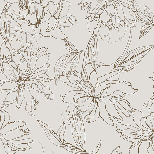 DCD-31610 Decadence Fair Peonies in Traced by Katarina Roccella for Art Gallery Fabrics at Pink Castle Fabrics