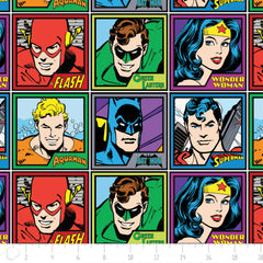 DC Meet the Heroes in Multi from DC Comics by Camelot Fabrics House Designers  for Camelot Fabrics