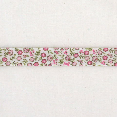 La Stéphanoise Pink Flowers Bias Binding Tape