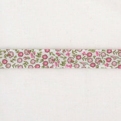 La Stéphanoise Pink Flowers Bias Binding Tape from La Stephanoise Tape by La Stéphanoise House Designers  for La Stephanoise